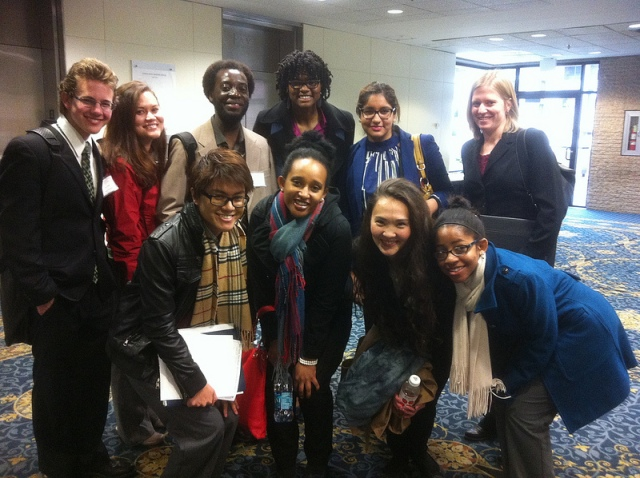 Me and a few of my cohort members at a career fair in DC in December. (From L to R clockwise: Josh, Me, Amos, Ashelyn, Akashi, Molly, Mia, Auken, Beza, and Justin)
