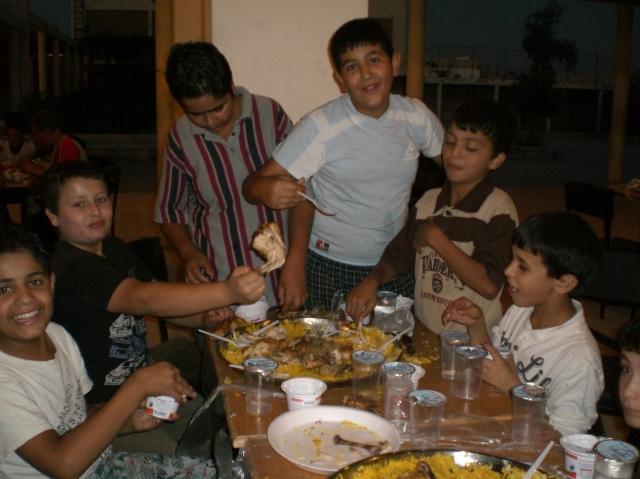 NFE boys feasting