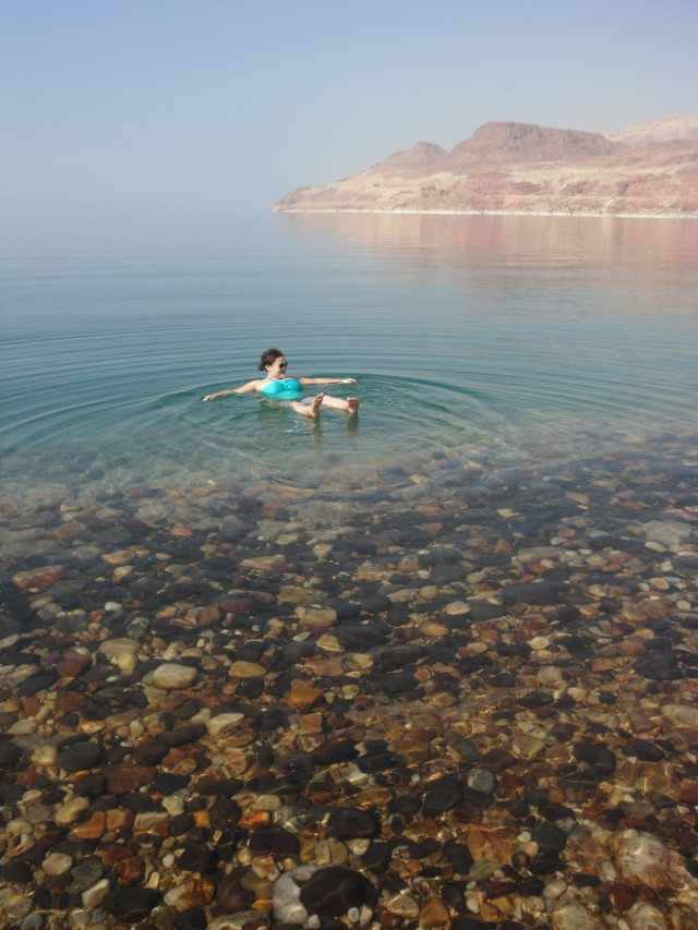 Unlike when I went in hellish-hot July, the Dead Sea in October is absolutely lovely.